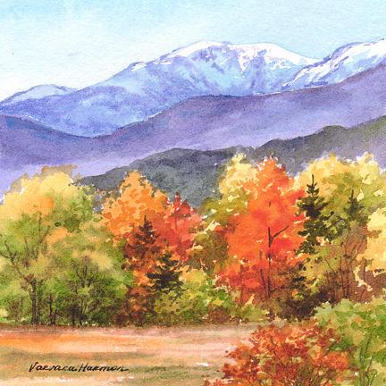 Appalachian Mountain Trail Painting - Washington Mnt. by Varvara Harmon