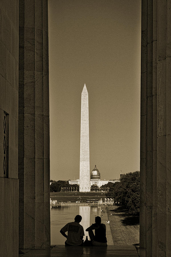American Photograph - Washington Monument And Capitol #4 by Stuart Litoff