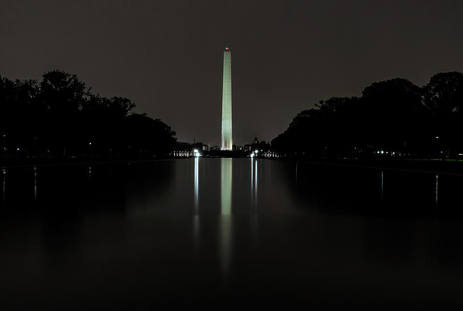 Washington Monument at Night by Ed Clark
