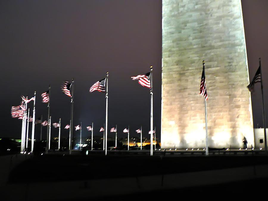 America Photograph - Washington Monument At Night by Artistic Photos