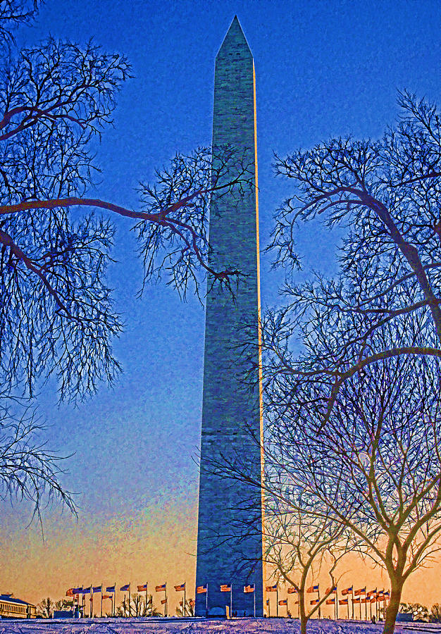 Usa Photograph - Washington Monument by Dennis Cox