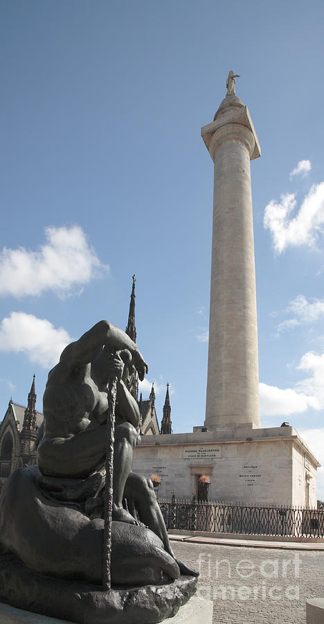 Baltimore Photograph - Washington Monument In Baltimore by William Kuta