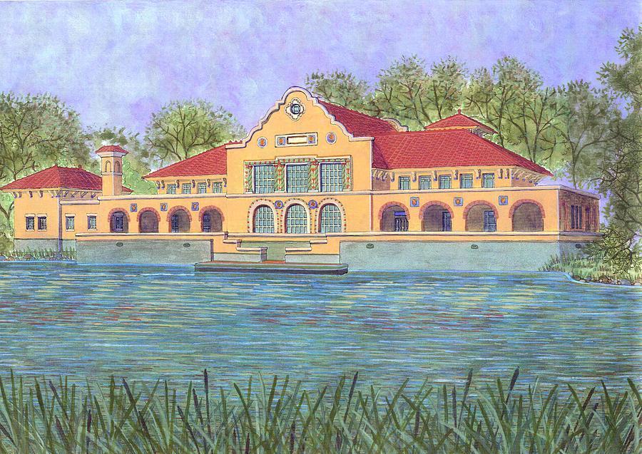 Spanish Painting - Washington Park Lakehouse by David Hinchen