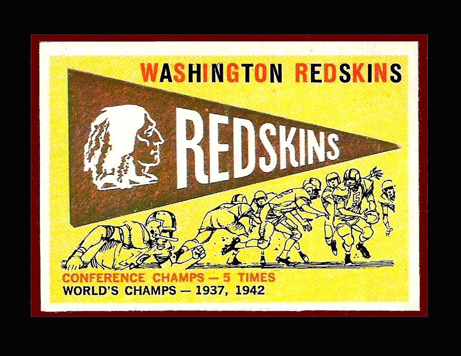 Washington Photograph - Washington Redskins 1959 Pennant Card by Paul Van Scott