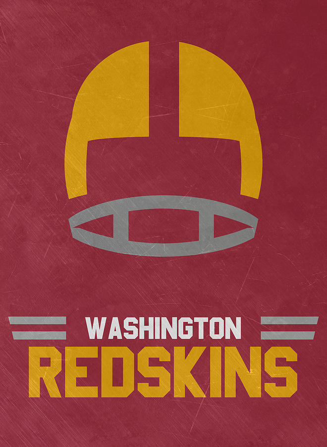 Redskins Mixed Media - Washington Redskins Vintage Art by Joe Hamilton