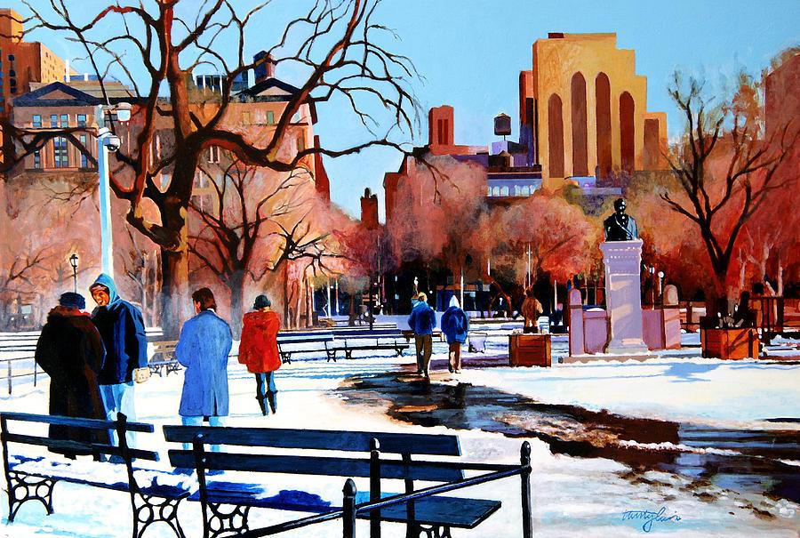 Washington Square Painting - Washington Square by John Tartaglione