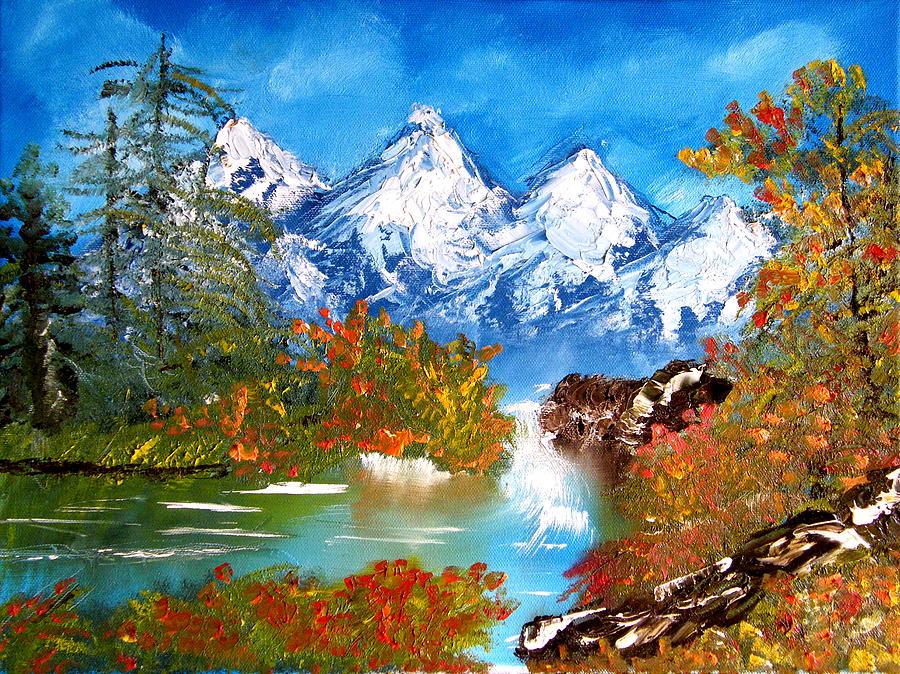 Landscape Painting - Washington State Cascade Mountains by Margaret G Calenda