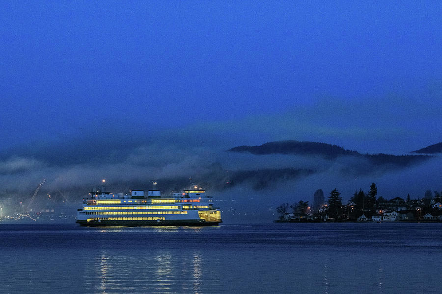 Washington State Ferry Hyak by E Faithe Lester