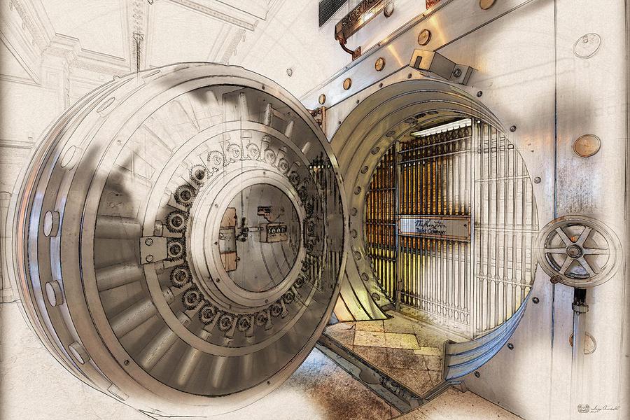 bank vaults digital art washington trust company bank vault door and lock by serge averbukh