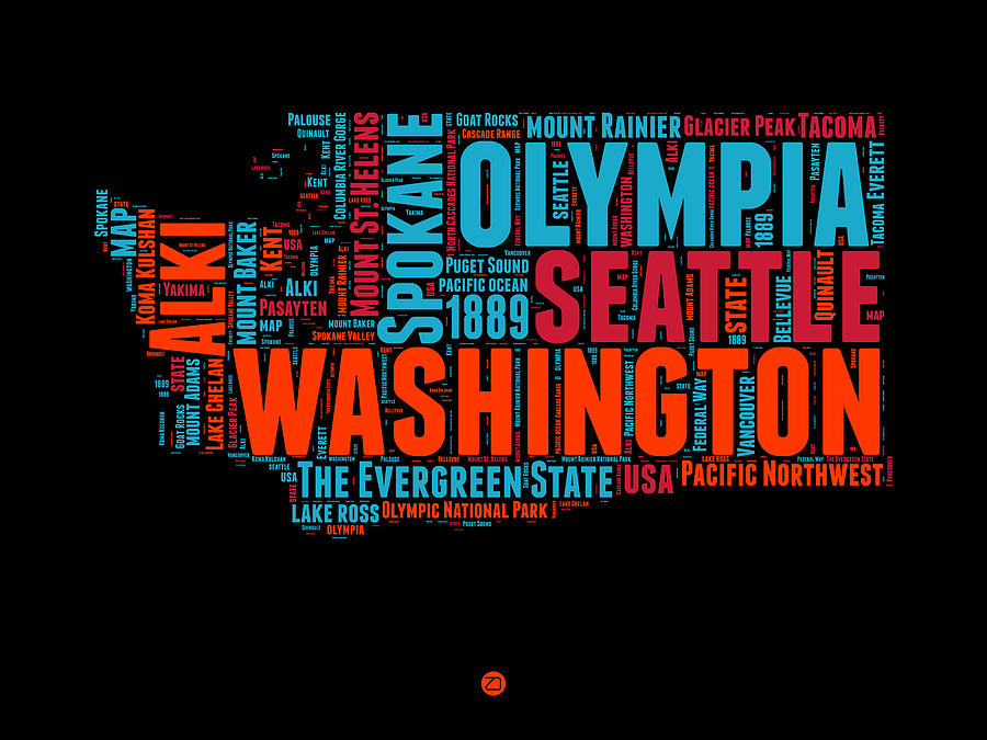 Washington Word Cloud Map 1