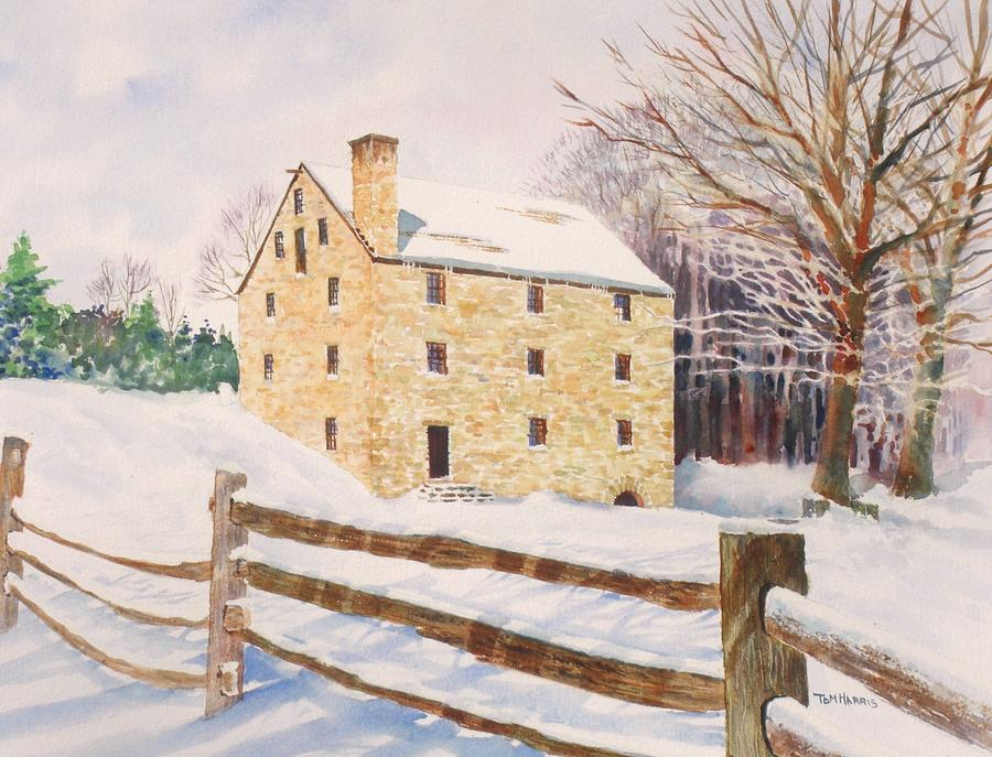 Landscape Painting - Washingtons Grist Mill by Tom Harris