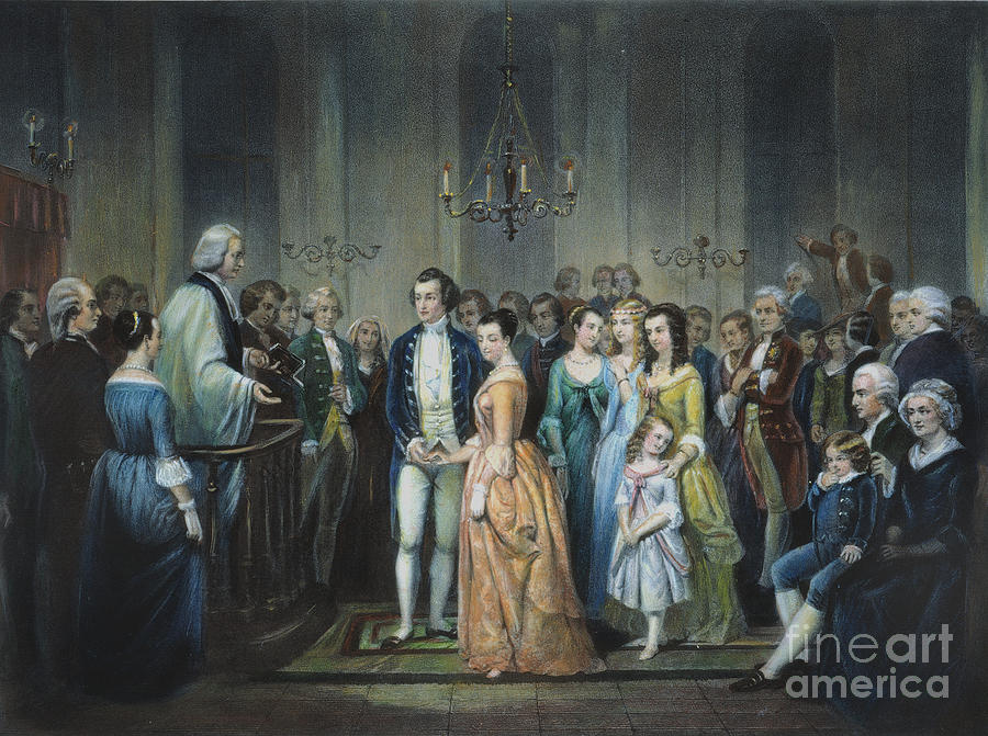 1759 Photograph - Washingtons Marriage by Granger