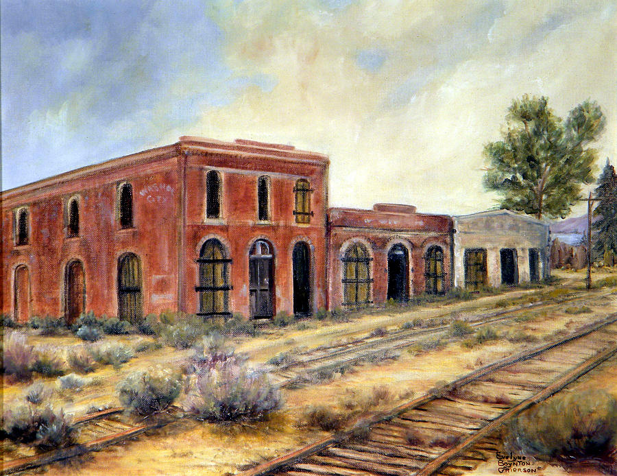 West Painting - Washoe City Nevada by Evelyne Boynton Grierson