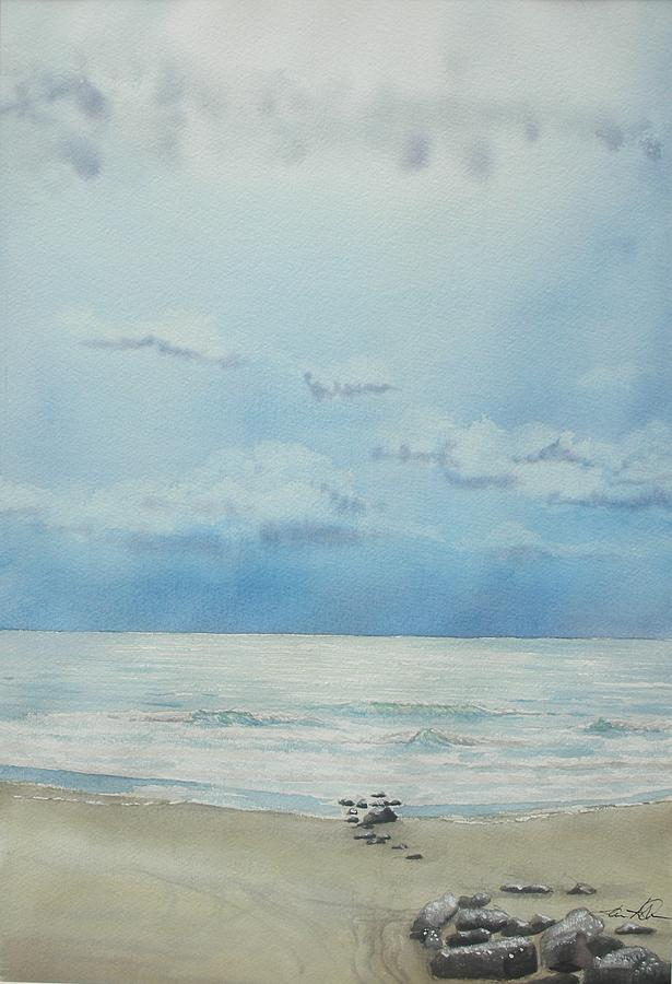 Beach Painting - Washout Lull by Lane Owen