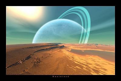 Planets Digital Art - Wasteland by Graham Conrad