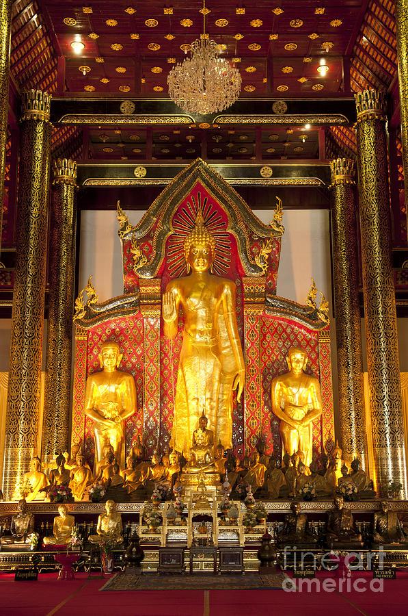 Architecture Photograph - Wat Chedi Luang Wora Wihan by Greg Vaughn - Printscapes