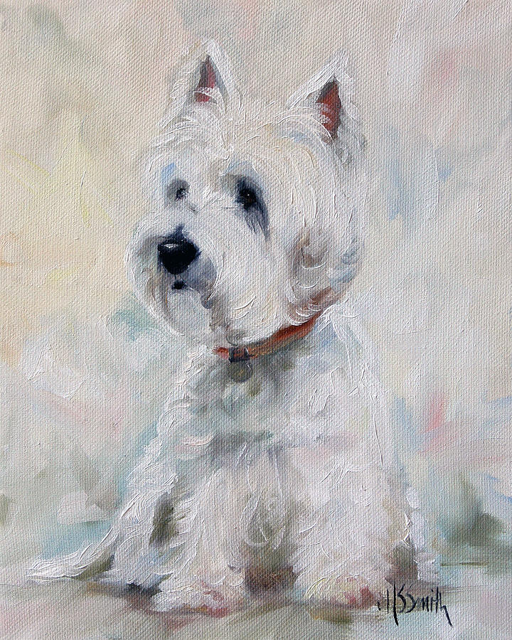 Westie Painting - Watch Dog by Mary Sparrow
