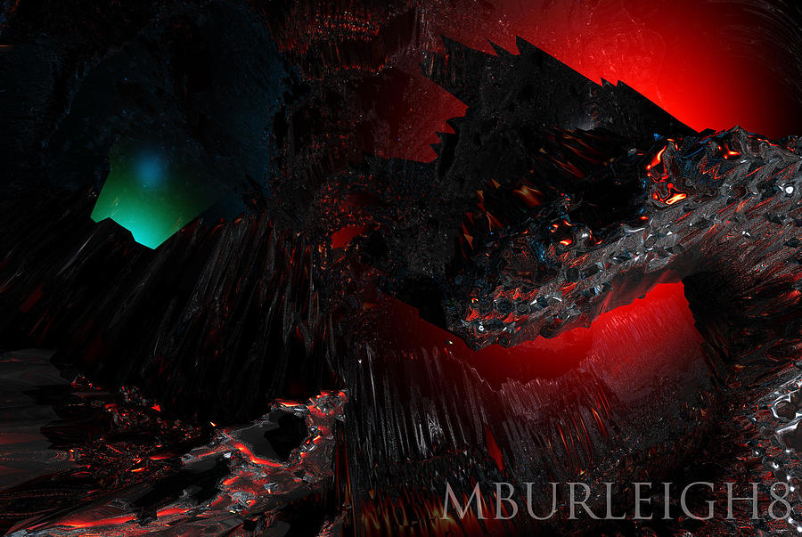 Abstract Digital Art - Watch Out by Michael Burleigh