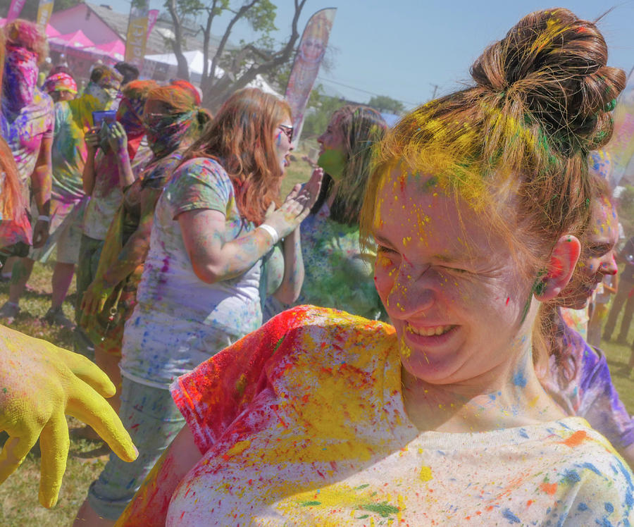 Festival Of Colors Photograph - Watch Your Eyes by Billy Joe