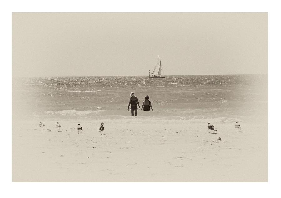Beach Photograph - Watchers by Mal Bray