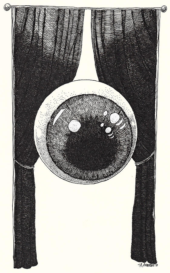 Illustration Drawing - Watchful by Tobey Anderson