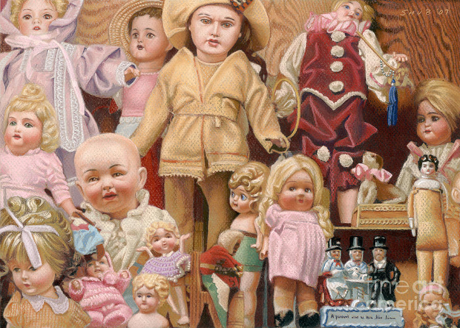 Dolls Pastel - Watching And Waiting by Stephen Shub