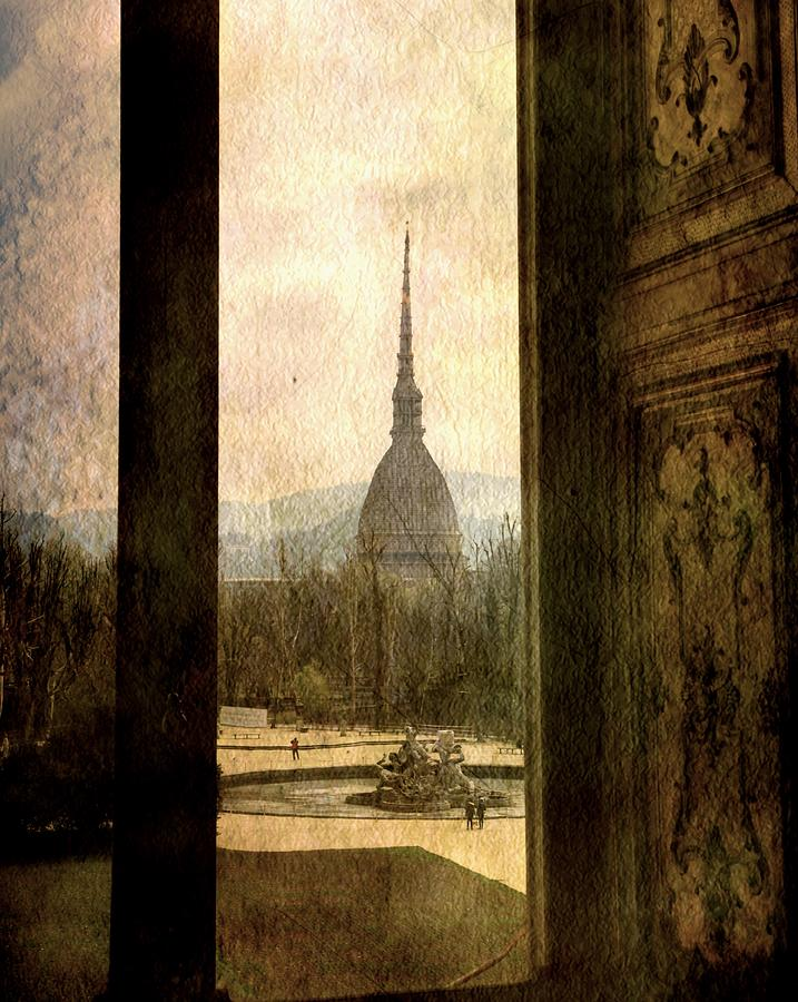 Watching Antonelliana tower from the window by Vittorio Chiampan