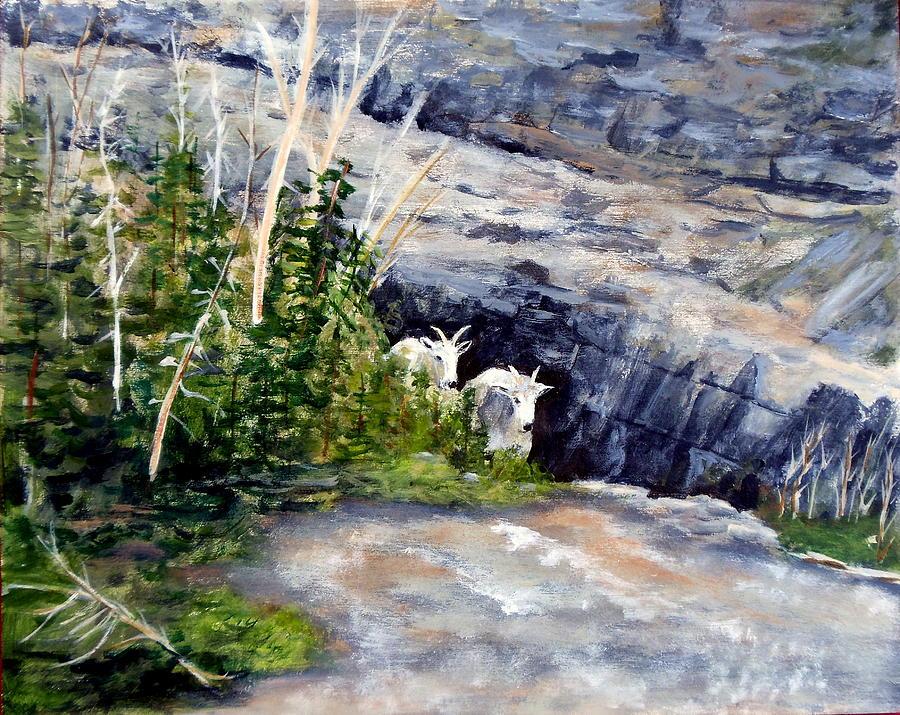 Animal Painting - Watching by Lorna Skeie