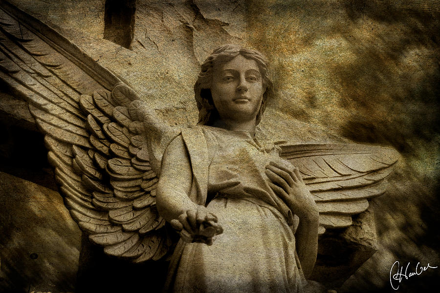 Angel Photograph - Watching Over Us by Christine Hauber
