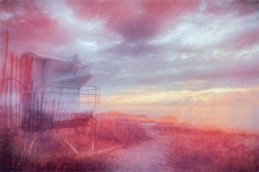 Clouds Photograph - Watching The Day Begin In Watercolors by Debra and Dave Vanderlaan