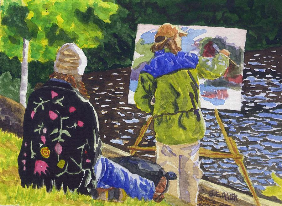 Artist Painting - Watching The Maestro by Sharon E Allen
