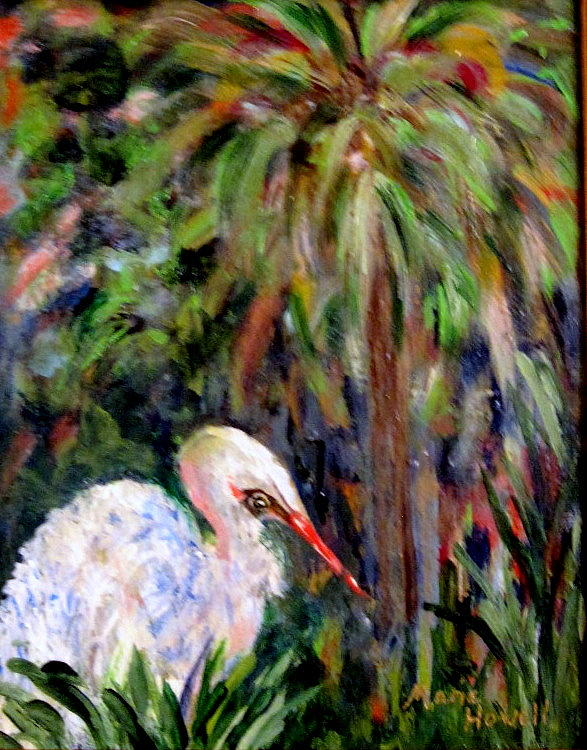 Bird Painting - Watching The Marsh by Marie Howell