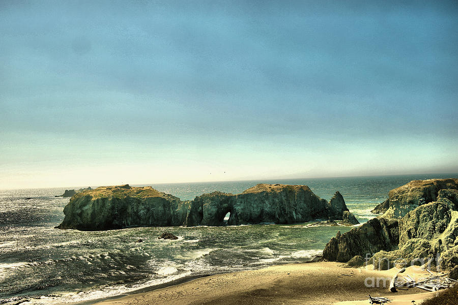 Ocean Photograph - Watching The Rocks And Waves by Jeff Swan