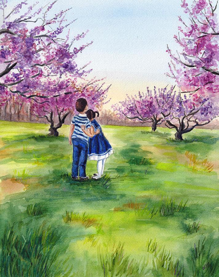 Watching the trees bloom by Clara Sue Beym