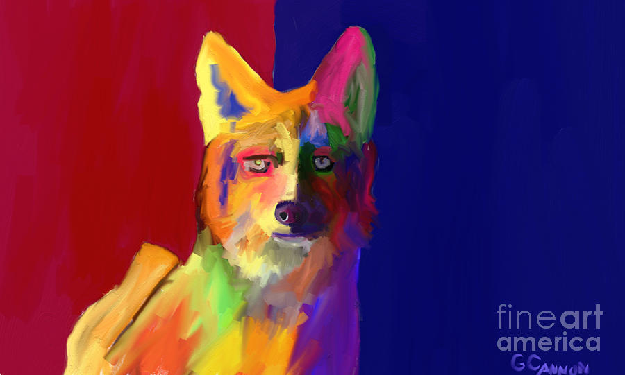 Coyote Digital Art - Watching Waiting by GCannon