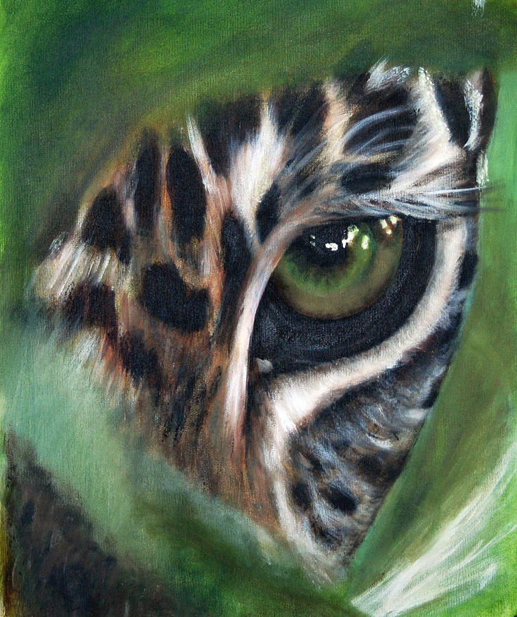 Animals Painting - Watching You Watching Me by Fiona Jack