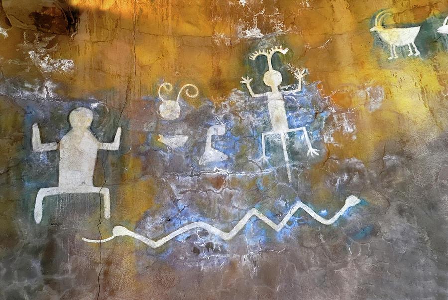 Desert View Watchtower Photograph - Watchtower Rock Art  by Julie Niemela