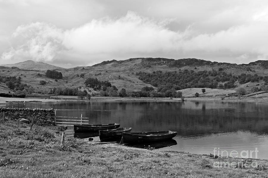Watendlath Photograph - Watendlath Tarn In The Lake District Cumbria by Louise Heusinkveld