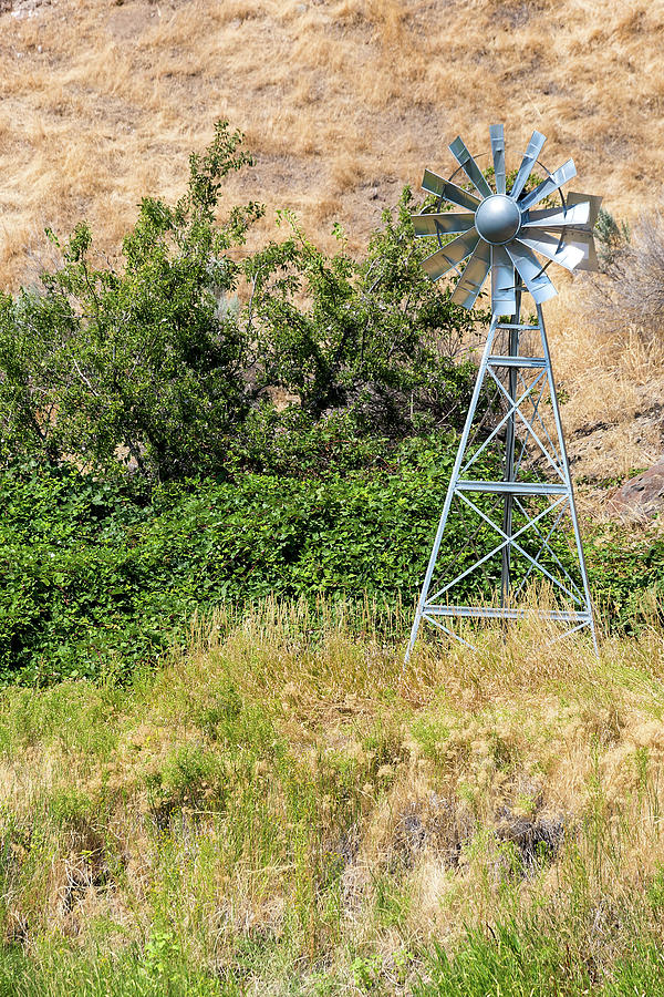 Windmill Photograph - Water Aerating Windmill For Ponds And Lakes by David Gn
