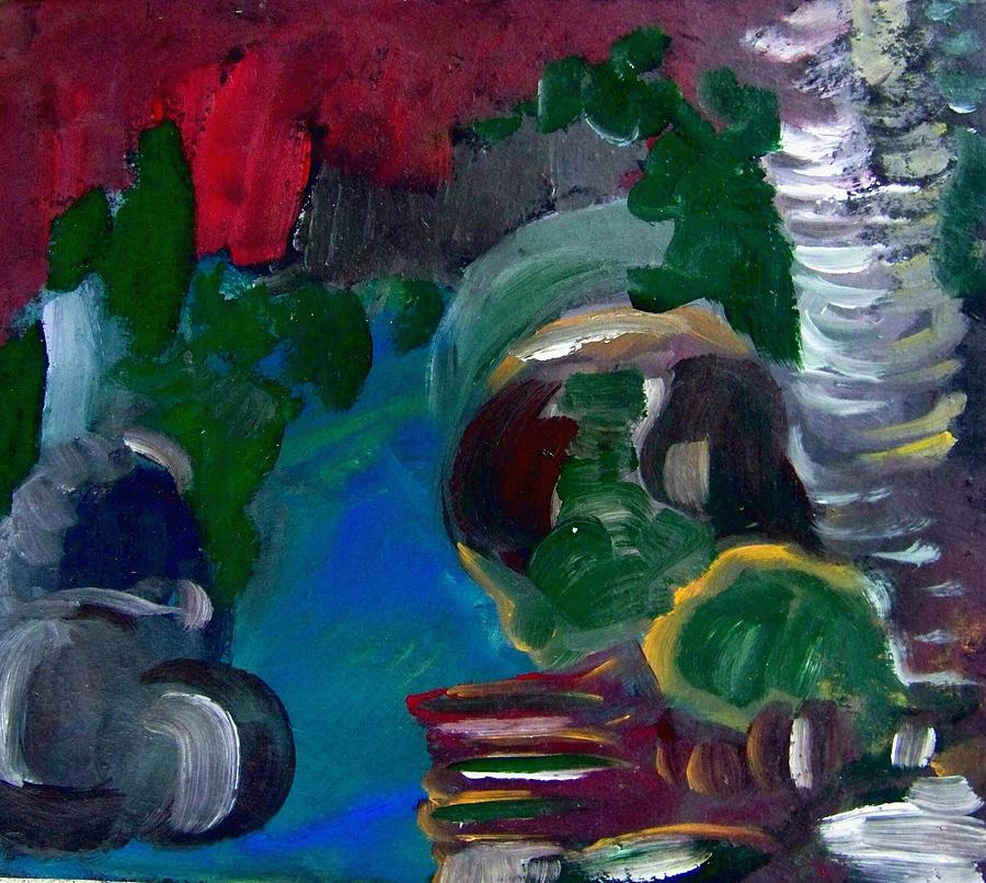 Painting Painting - Water And Rocks by Ellen Seymour