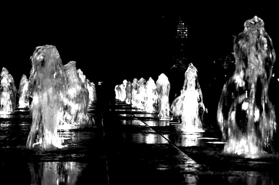 City Hall Photograph - Water Angels by Andrew Dinh