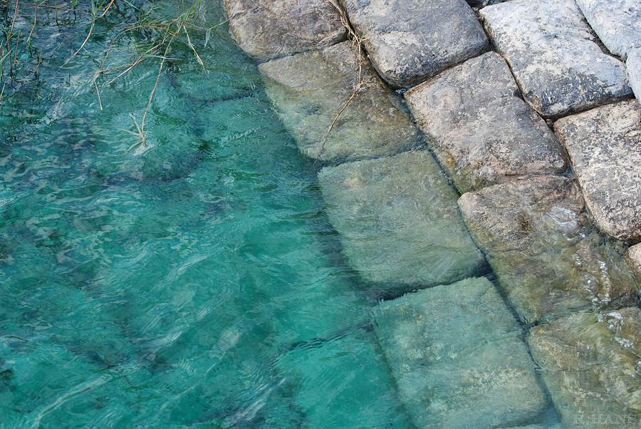Abstract Photograph - Water Blocks by Rob Hans