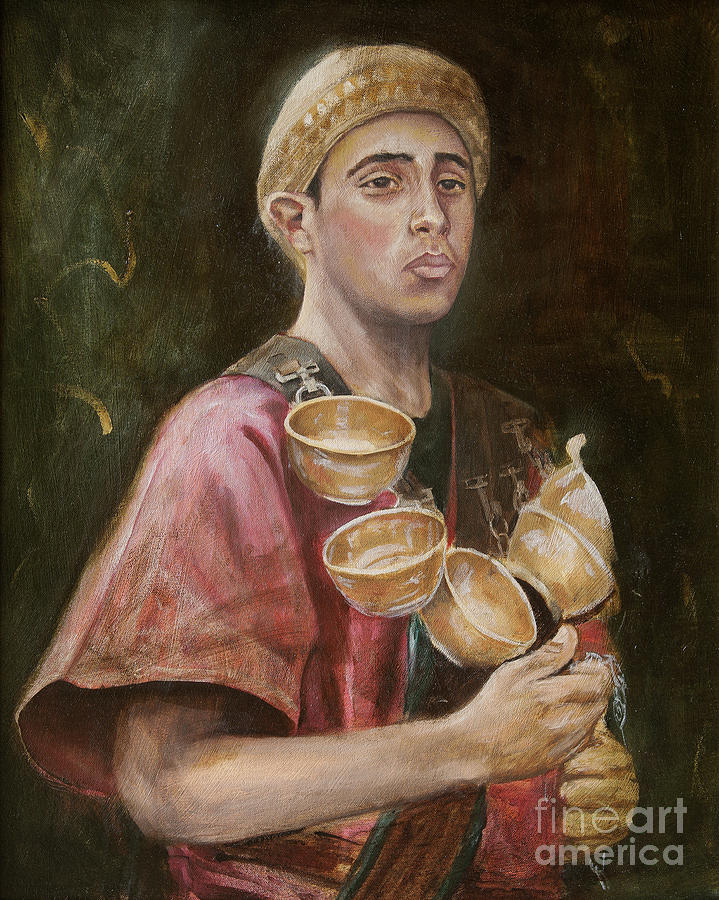 Oil Painting - Water Boy by Jonathan Wommack