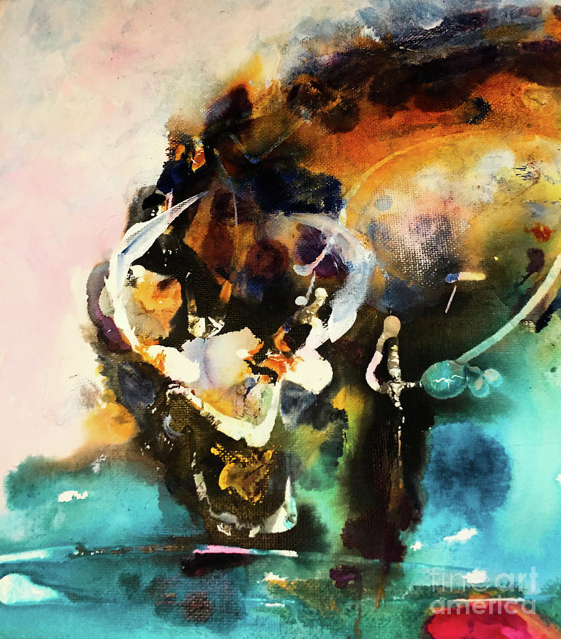Animals Painting - Water Buffalo by Esther Brown