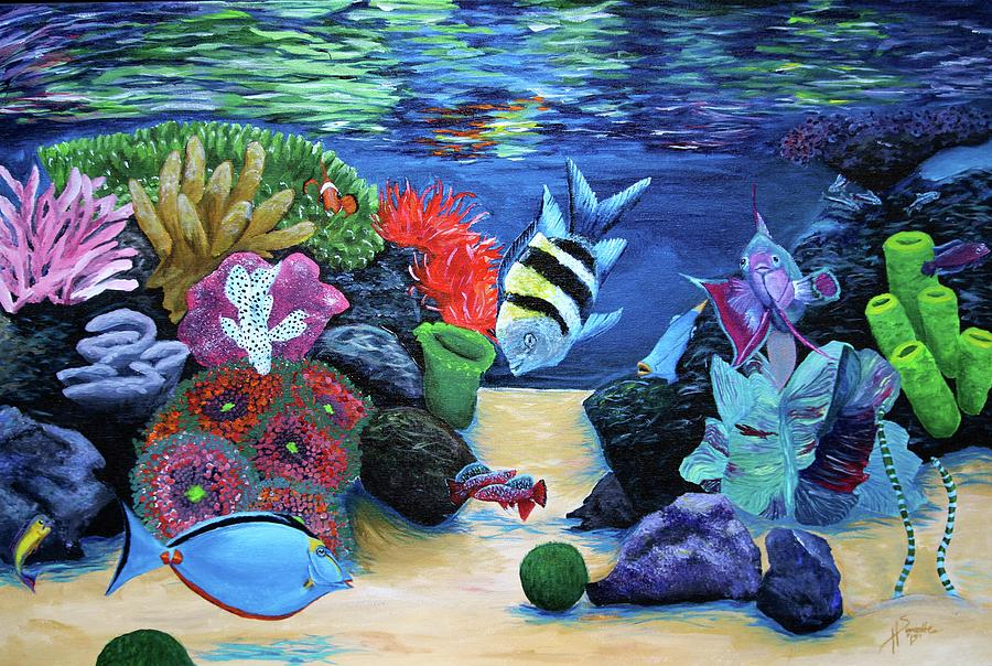 Under The Sea Painting - Water Colors by Heather Sweatte