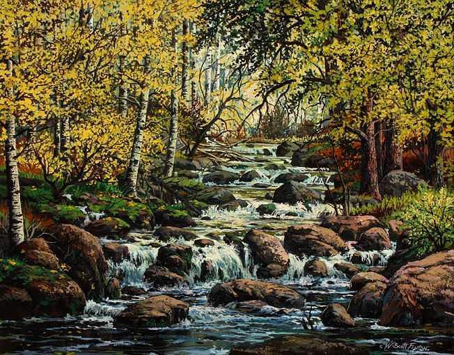 Water Dance Painting by W  Scott Fenton