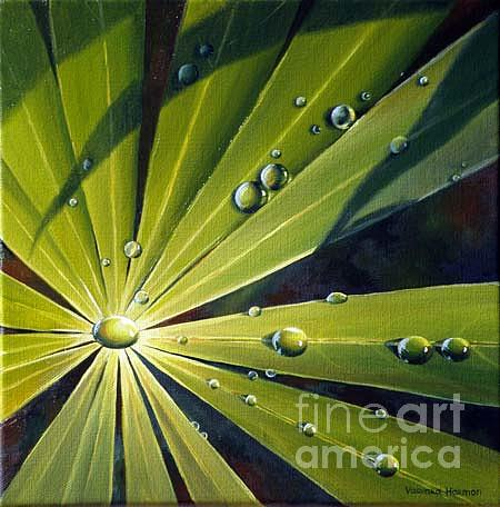 Paintings Painting - Water Drops - II by Varvara Harmon