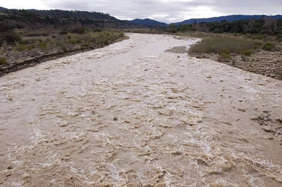Floods Photograph - Water Flowing After Record-setting by Rich Reid