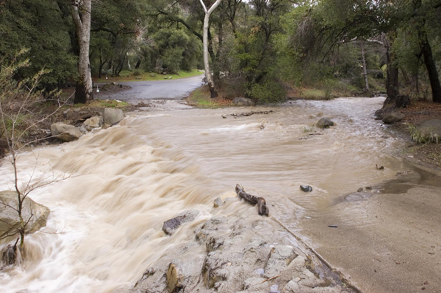 Floods Photograph - Water Flowing In The North Fork by Rich Reid