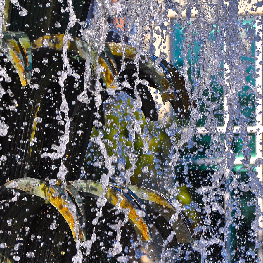 Charleston Photograph - Water Fountain Blue Charleston Sc by Lori Kesten